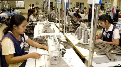 H&M Garment Factory in Cambodia - PHOTO BY AP