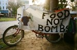 Food Not Bombs - bicycle banner